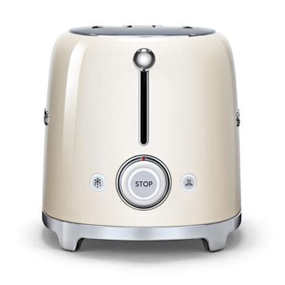 smeg tsf01cruk 50 39 s retro style 2 slice toaster in cream. Black Bedroom Furniture Sets. Home Design Ideas