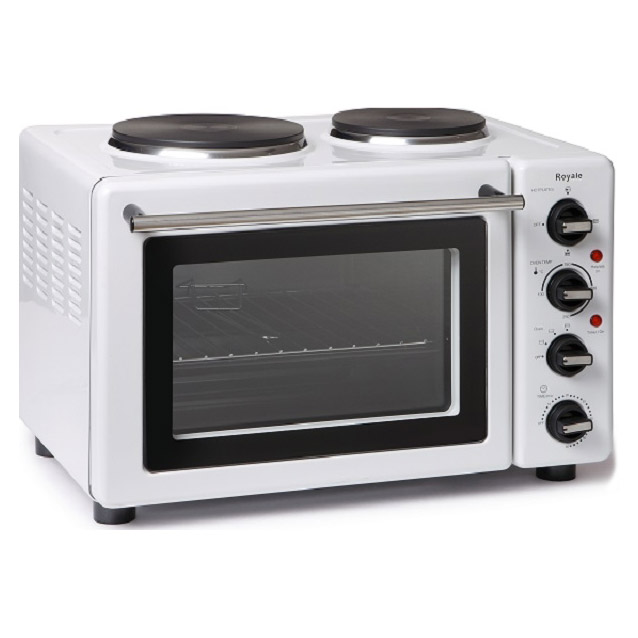 Small Electric Range With Oven ~ Royale tt table top compact electric cooker in white l