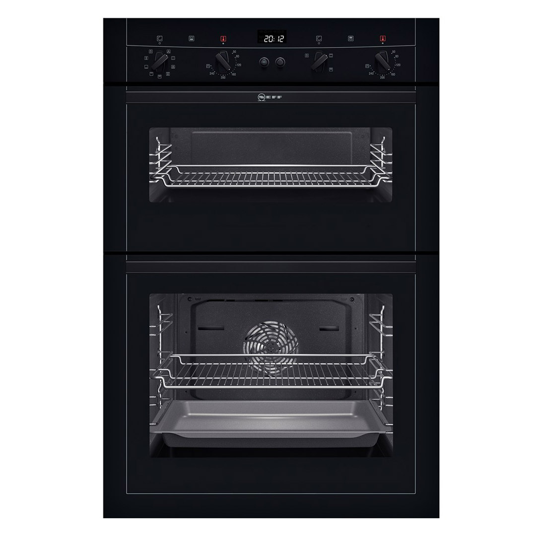 Neff U15m52s3gb Built In Circotherm Plus Double Oven In Black