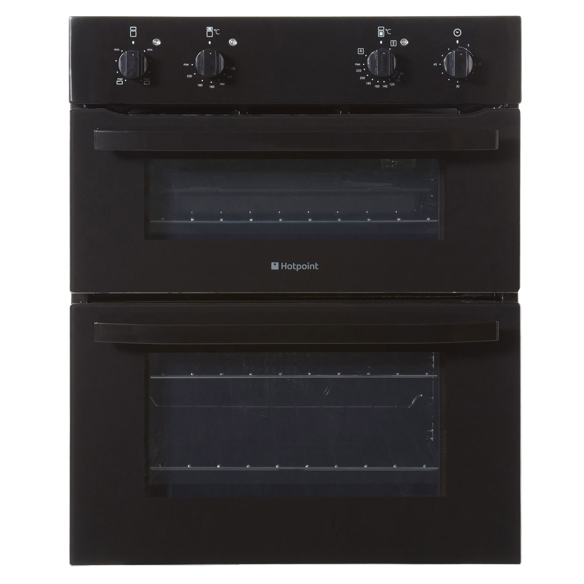 hotpoint uh51k first edition built under double oven in black. Black Bedroom Furniture Sets. Home Design Ideas