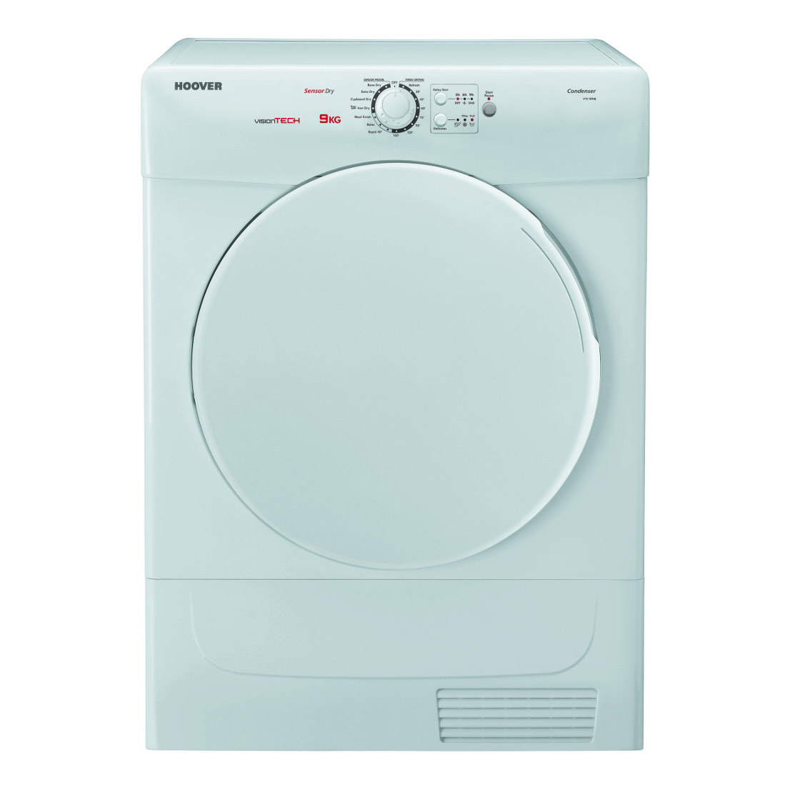 hoover vtc590b 9kg condenser tumble dryer in white sensor. Black Bedroom Furniture Sets. Home Design Ideas
