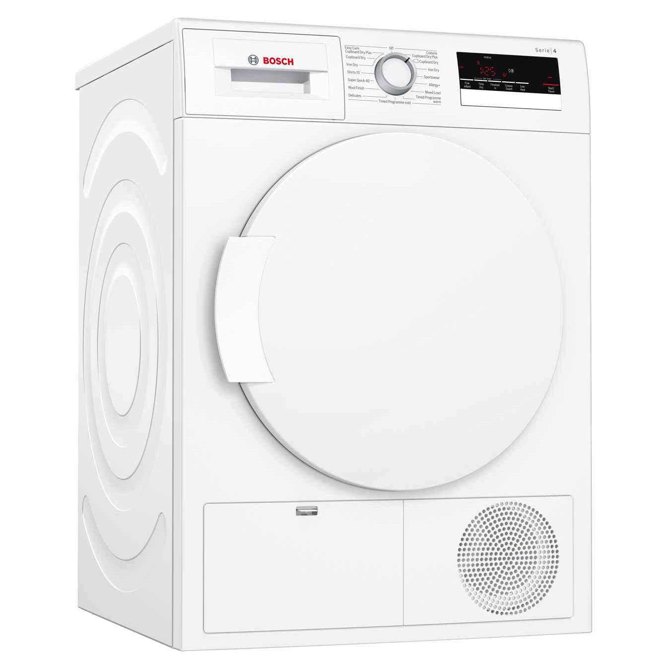 Bosch Dryer: Bosch WTN83200GB 8kg Serie-4 Condenser Dryer In White